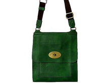 A-SHU DESIGNER STYLE GREEN LEATHER EFFECT CROSS-BODY HANDBAG - A-SHU.CO.UK