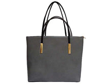 A-SHU DESIGNER STYLE GREY 2 PIECE BAG IN BAG HANDBAG SET - A-SHU.CO.UK