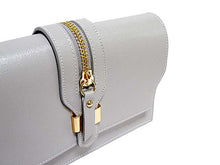 ORDER BY REQUEST - DESIGNER STYLE GREY GENUINE LEATHER SHOULDER BAG / CLUTCH BAG