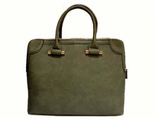 A-SHU DARK GREY MULTI-COMPARTMENT HOLDALL / LAPTOP HANDBAG WITH LONG STRAP - A-SHU.CO.UK