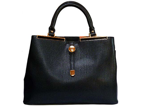 ORDER BY REQUEST - DESIGNER STYLE LIGHTWEIGHT BLACK MULTI-COMPARTMENT HOLDALL HANDBAG WITH LONG STRAP