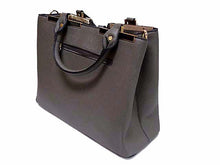 ORDER BY REQUEST - DESIGNER STYLE LIGHTWEIGHT GREY MULTI-COMPARTMENT HOLDALL HANDBAG WITH LONG STRAP
