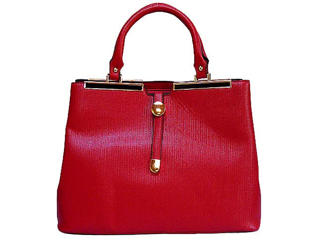 ORDER BY REQUEST - DESIGNER STYLE LIGHTWEIGHT RED MULTI-COMPARTMENT HOLDALL HANDBAG WITH LONG STRAP