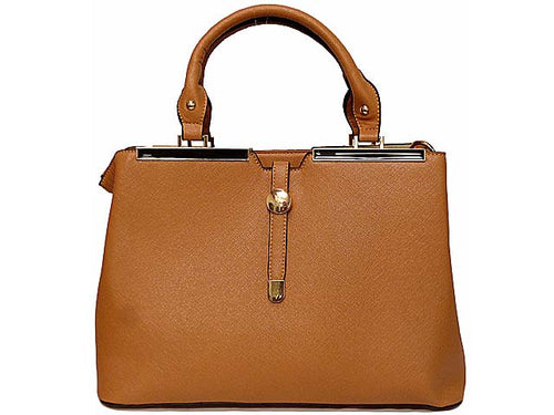 ORDER BY REQUEST - DESIGNER STYLE LIGHTWEIGHT TAN MULTI-COMPARTMENT HOLDALL HANDBAG WITH LONG STRAP
