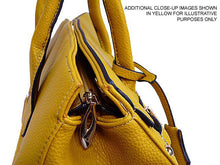 A-SHU DESIGNER STYLE NAVY BLUE MULTI-COMPARTMENT HOLDALL HANDBAG WITH LOCK, KEY AND LONG STRAP - A-SHU.CO.UK