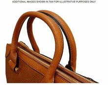 A-SHU LARGE BROWN MULTI POCKET LAPTOP HANDBAG WITH LONG SHOULDER STRAP - A-SHU.CO.UK