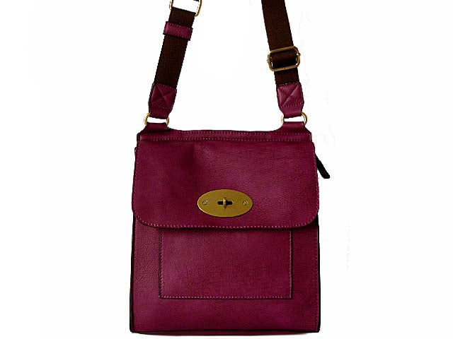 A-SHU DESIGNER STYLE PURPLE LEATHER EFFECT CROSS-BODY HANDBAG - A-SHU.CO.UK