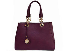 A-SHU DESIGNER STYLE PURPLE MULTI-COMPARTMENT CHAIN HANDBAG WITH STRAP - A-SHU.CO.UK