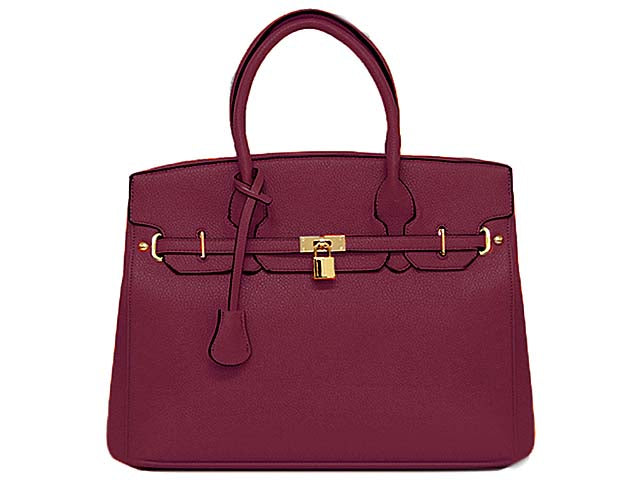 A-SHU DESIGNER STYLE PURPLE MULTI-COMPARTMENT HOLDALL HANDBAG WITH LOCK, KEY AND LONG STRAP - A-SHU.CO.UK