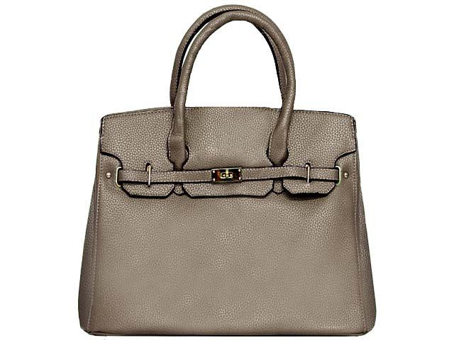 A-SHU DESIGNER STYLE SILVER GREY MULTI-COMPARTMENT HOLDALL HANDBAG WITH LOCK, KEY AND LONG STRAP - A-SHU.CO.UK