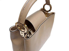 ORDER BY REQUEST - DESIGNER STYLE SMALL CAMEL GENUINE LEATHER HANDBAG WITH LONG STRAP