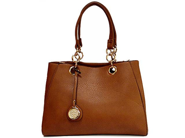 A-SHU DESIGNER STYLE TAN MULTI-COMPARTMENT CHAIN HANDBAG WITH STRAP - A-SHU.CO.UK