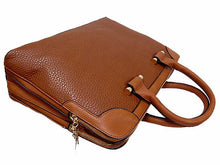 A-SHU DESIGNER STYLE TAN MULTI-COMPARTMENT HOLDALL / LAPTOP HANDBAG WITH LONG STRAP - A-SHU.CO.UK
