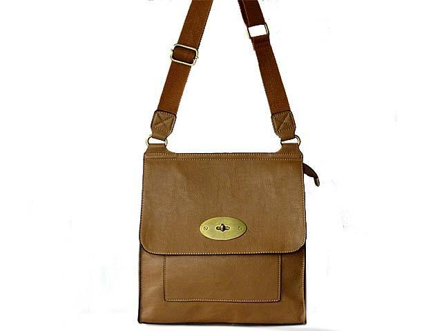 A-SHU DESIGNER STYLE TAUPE BROWN LEATHER EFFECT MULTI-POCKET CROSS-BODY HANDBAG - A-SHU.CO.UK