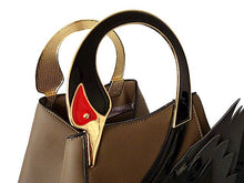 ORDER BY REQUEST - DESIGNER STYLE TAUPE SWAN 3D 2-WAY HOLDALL HANDBAG WITH LONG STRAP