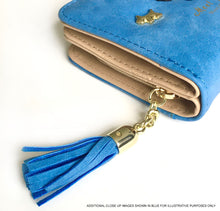 A-SHU SMALL BURGUNDY BI-FOLD DOG WALLET COIN PURSE WITH TASSEL - A-SHU.CO.UK