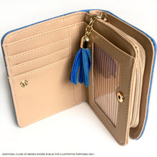 SMALL GREEN BI-FOLD DOG WALLET COIN PURSE WITH TASSEL