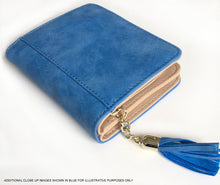 A-SHU SMALL LIGHT GREY BI-FOLD DOG WALLET COIN PURSE WITH TASSEL - A-SHU.CO.UK