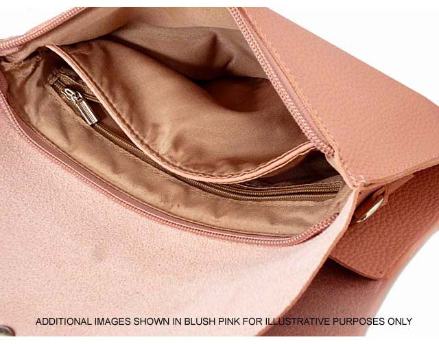 BROWN ENVELOPE MULTI-POCKET CLUTCH BAG WITH WRISTLET AND LONG SHOULDER STRAP