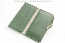 A-SHU GREY FAUX LEATHER SLIM MULTI-COMPARTMENT PURSE WALLET WITH MOBILE PHONE SLOT - A-SHU.CO.UK