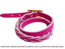 A-SHU GOLD GENUINE LEATHER WRAP AROUND WOVEN WRIST STRAP BRACELET - A-SHU.CO.UK