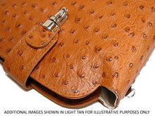 A-SHU ORDER BY REQUEST - SMALL ORANGE GENUINE OSTRICH LEATHER BAG WITH LONG SHOULDER STRAP - A-SHU.CO.UK