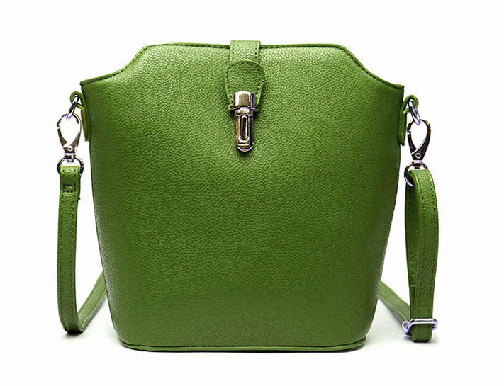 A-SHU GREEN CROSS BODY BAG WITH LONG OVER SHOULDER STRAP - A-SHU.CO.UK