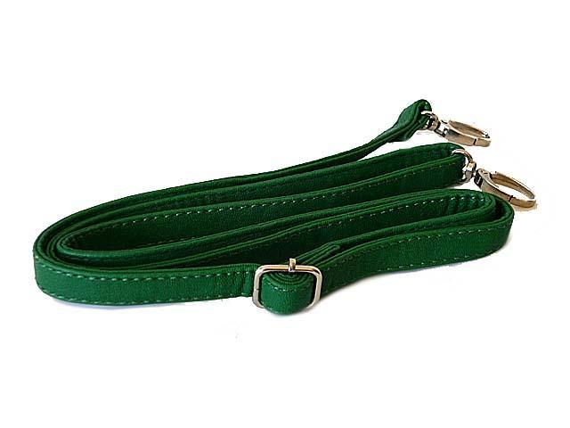 A-SHU GREEN FAUX LEATHER ADJUSTABLE LENGTH LONG HANDBAG SHOULDER STRAP - A-SHU.CO.UK
