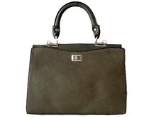 A-SHU GREY LEATHER EFFECT DOUBLE SIDED HOLDALL HANDBAG WITH LONG SHOULDER STRAP - A-SHU.CO.UK