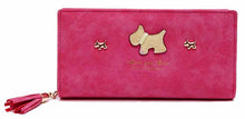 A-SHU HOT PINK MULTI-COMPARTMENT DOG PURSE WALLET WITH TASSEL - A-SHU.CO.UK