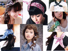 A-SHU MULTI-FUNCTIONAL BENDY FLORAL HEADBAND/ NECK-WRIST-HAIR TIE - BLACK LACE FLORAL - A-SHU.CO.UK