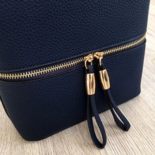 A-SHU NAVY BLUE MULTI COMPARTMENT CROSSBODY BAG WITH LONG STRAP - A-SHU.CO.UK