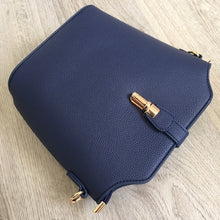 NAVY BLUE CROSS BODY BAG WITH LONG OVER SHOULDER STRAP