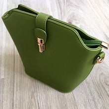 GREEN CROSS BODY BAG WITH LONG OVER SHOULDER STRAP