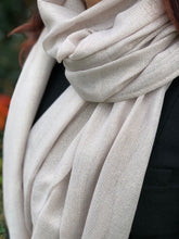 A-SHU LARGE BEIGE GOLD SHIMMER LIGHTWEIGHT SCARF - A-SHU.CO.UK