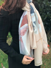 A-SHU LARGE BLUSH PINK ROSE GOLD CHECKED PASHMINA SHAWL SCARF - A-SHU.CO.UK