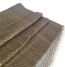 OLIVE GREEN OMBRE PLEATED METALLIC REVERSIBLE SHAWL SCARF