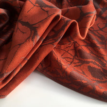 A-SHU ORANGE RUST REVERSIBLE PASHMINA SHAWL SCARF IN ABSTRACT PRINT - A-SHU.CO.UK