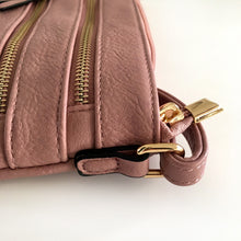 A-SHU DUSKY PINK SLIM MULTI POCKET CROSS BODY BAG WITH LONG STRAP - A-SHU.CO.UK