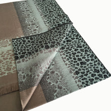 A-SHU DUCK EGG LEOPARD PRINT REVERSIBLE PASHMINA SHAWL SCARF - A-SHU.CO.UK