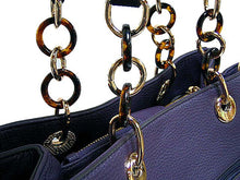 A-SHU DESIGNER STYLE NAVY MULTI-COMPARTMENT CHAIN HANDBAG - A-SHU.CO.UK