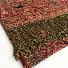 A-SHU LARGE RED MULTI COLOUR PAISLEY PRINT PASHMINA SHAWL SCARF - A-SHU.CO.UK
