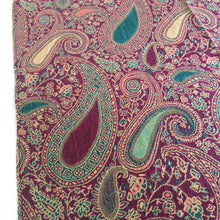 A-SHU LARGE FUSCHIA PINK MULTI COLOUR PAISLEY PRINT PASHMINA SHAWL SCARF - A-SHU.CO.UK