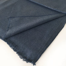A-SHU LARGE BLUE CASHMERE MIX SUPER SOFT PASHMINA SHAWL SCARF WITH METALLIC FOIL - A-SHU.CO.UK