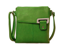 LARGE LIGHT GREEN MULTI POCKET CROSS BODY MESSENGER BAG