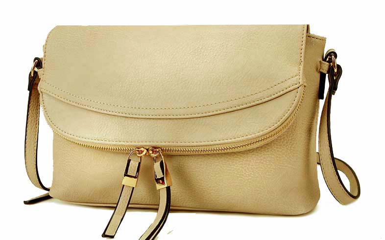 A-SHU LARGE BEIGE TASSEL MULTI POCKET CROSS BODY MESSENGER BAG - A-SHU.CO.UK