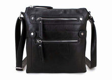 A-SHU LARGE BLACK MULTI COMPARTMENT CROSSBODY BAG WITH LONG STRAP - A-SHU.CO.UK