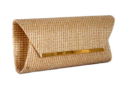 A-SHU LARGE CHAMPAIGN GOLD METALLIC SQUARE ENVELOPE CLUTCH BAG WITH LONG CHAIN STRAP - A-SHU.CO.UK