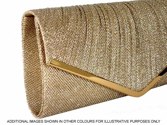 23846459ef3 A-SHU LARGE GOLD METALLIC ENVELOPE CLUTCH BAG WITH LONG CHAIN STRAP ...