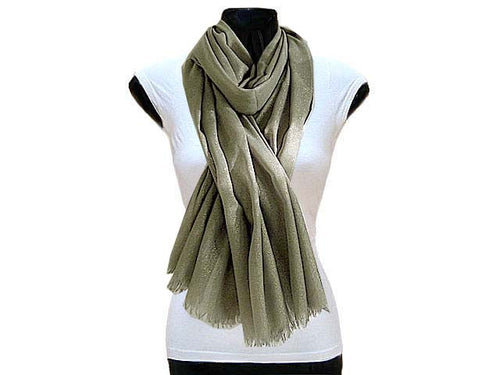 LARGE GREY GOLD SHIMMER LIGHTWEIGHT SCARF